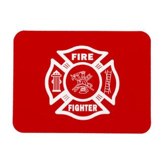 Fire Fighter Maltese Rectangular Photo Magnet