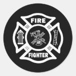 Fire Fighter Maltese Sticker