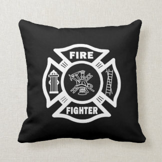 Fire Fighter Maltese Throw Pillow