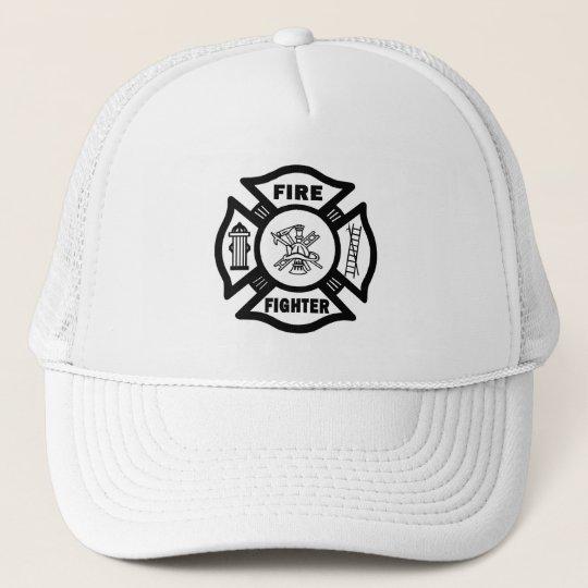 Fire Fighter Maltese Trucker Hat