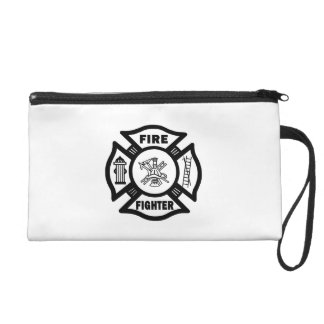 Fire Fighter Maltese Wristlet Purse