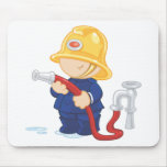 Fire Fighter Mouse Pad