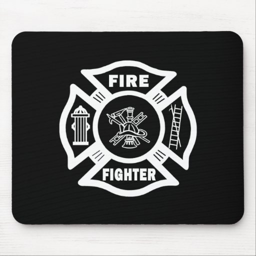 Fire Fighter Mouse Pads