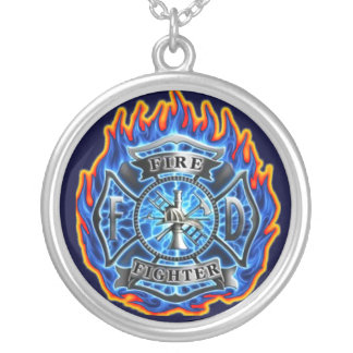 fire fighter pendant necklace