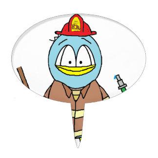 Fire Fighter Penguin Cake Topper