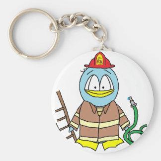 Fire Fighter Penguin Keychain