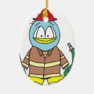 Fire Fighter Penguin Ornaments