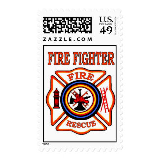 FIRE FIGHTER POSTAGE STAMP