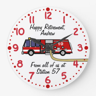 Fire Fighter Retirement Gift Custom Name Clock