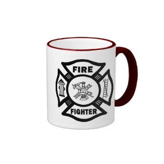Fire Fighter Ringer Mug