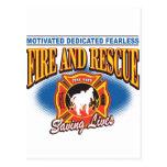 Fire Fighter Saving Lives Postcards