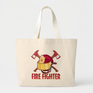 Fire Fighter Tribute Large Tote Bag