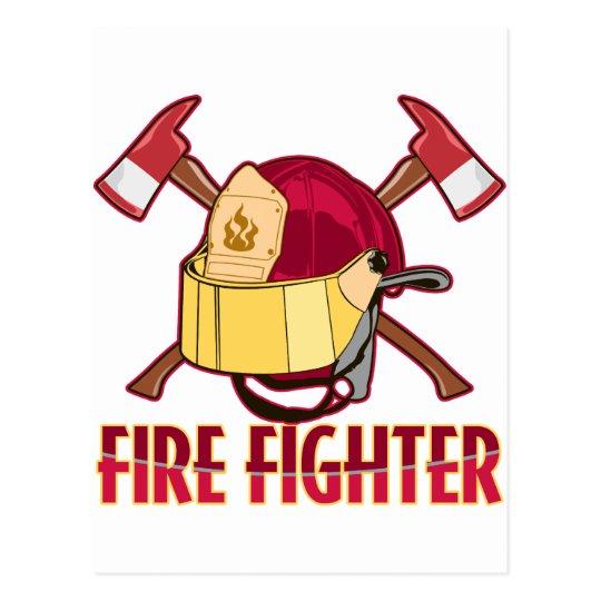 Fire Fighter Tribute Postcard