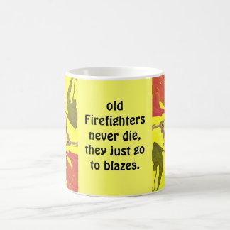 fire fighters blaze coffee mug