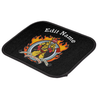 Fire Fighters Fear No Fire Car Mat
