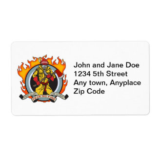 Fire Fighters Fear No Fire Shipping Label