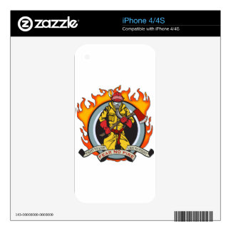 Fire Fighters Fear No Fire Skin For iPhone 4S