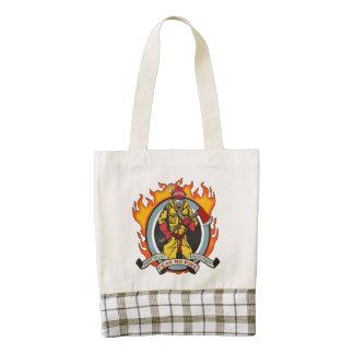 Fire Fighters Fear No Fire Zazzle HEART Tote Bag