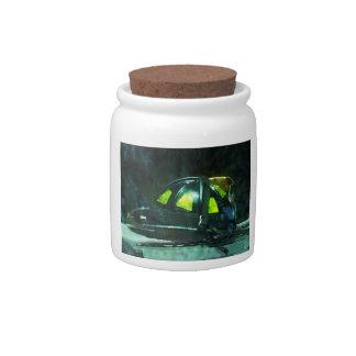 Fire Fighter's Helmet Candy Jars