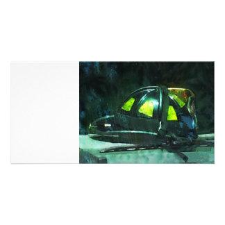 Fire Fighter's Helmet Card