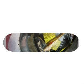 Fire Fighter's Helmet Closeup Skateboard