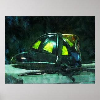 Fire Fighter's Helmet Print