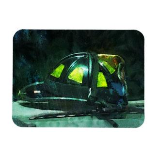 Fire Fighter's Helmet Rectangular Photo Magnet