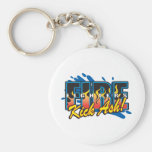 Fire Fighters Kick Ash! Basic Round Button Keychain