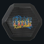 """Fire Fighters Kick Ash! Black Bluetooth Speaker<br><div class=""""desc"""">Raging flames and a cold splash from the fire hose,  Firefighters Kick Ash! Very colorful fire fighting gift for your favorite local heroes! Show love for you fire fighter and your local fire department!</div>"""
