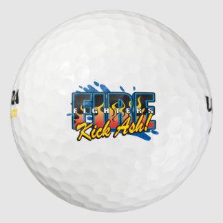 Fire Fighters Kick Ash! Golf Balls