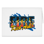 Fire Fighters Kick Ash! Greeting Card