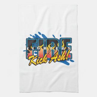Fire Fighters Kick Ash! Kitchen Towels
