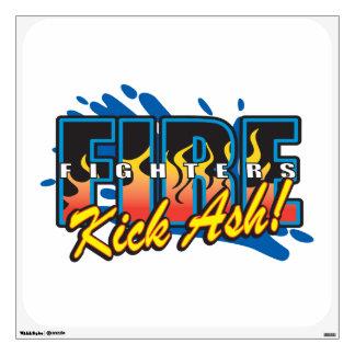 Fire Fighters Kick Ash! Wall Sticker