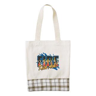 Fire Fighters Kick Ash! Zazzle HEART Tote Bag
