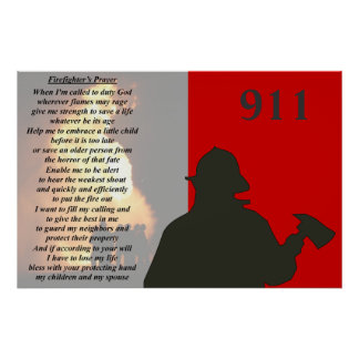 Fire Fighter's Prayer Poster
