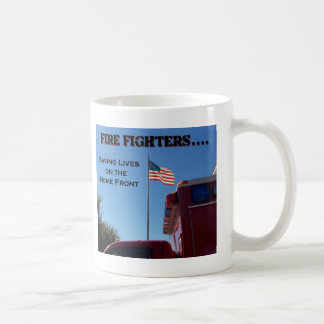 Fire Fighters Saving Lives Coffee Mugs