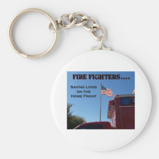 Fire Fighters Saving Lives Key Chains