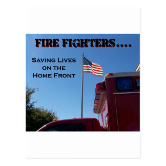 Fire Fighters Saving Lives Post Card