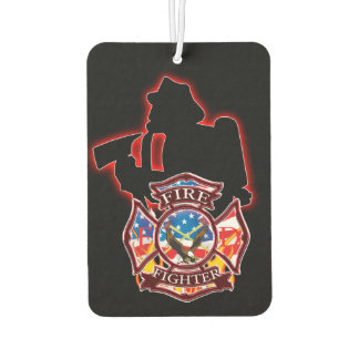 Fire Fighter's take on the fire head on. Car Air Freshener