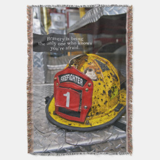 Fire Fighter's Throw Blanket
