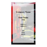 Fire Fighting Equipment Overlay Business Card Template
