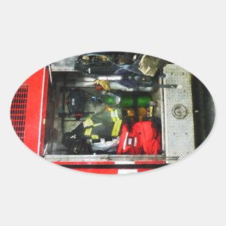 Fire Fighting Gear Oval Sticker