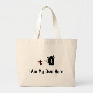 Fire Fighting Hero Large Tote Bag