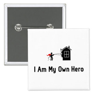 Fire Fighting Hero Pinback Button