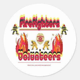 Fire Firefighter Volunteer Classic Round Sticker
