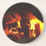 FIRE : Fireplace Hearth Beverage Coasters