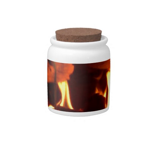 FIRE : Fireplace Hearth Candy Jar
