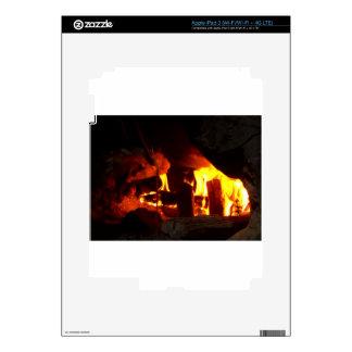 FIRE : Fireplace Hearth iPad 3 Skin