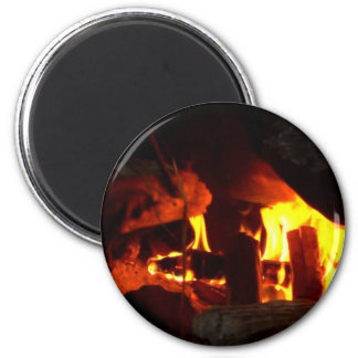 FIRE Fireplace Hearth Fridge Magnets