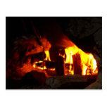 FIRE : Fireplace Hearth Postcard